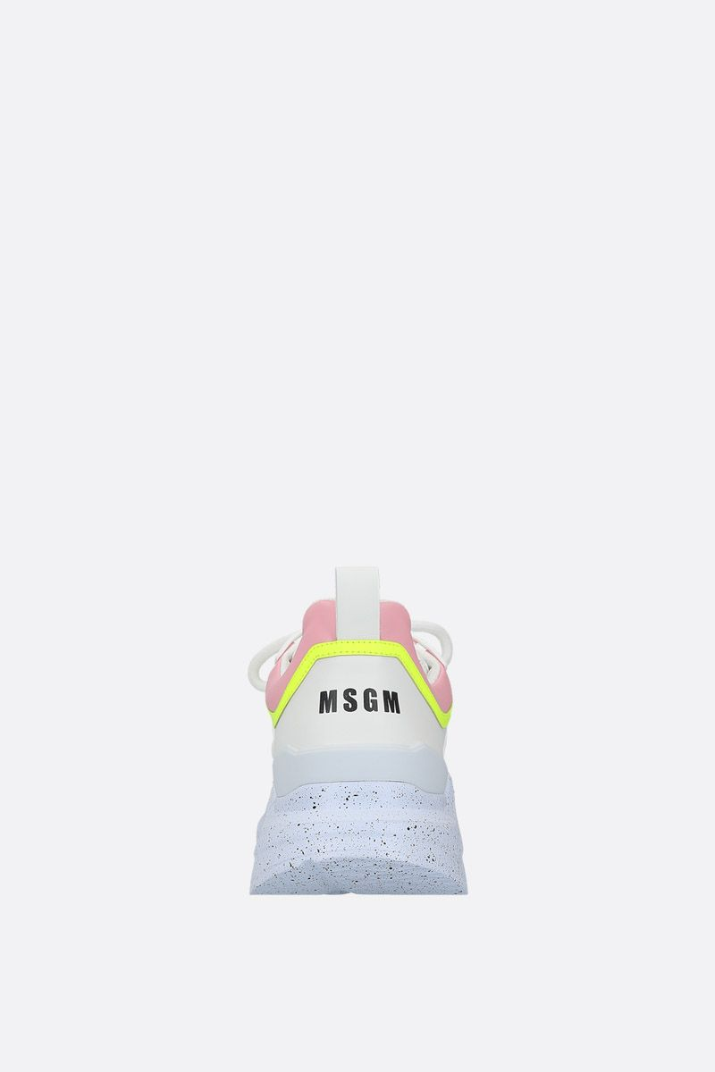 MSGM: smooth leather low-top sneakers Color White_3