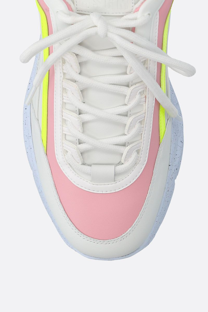 MSGM: smooth leather low-top sneakers Color White_4