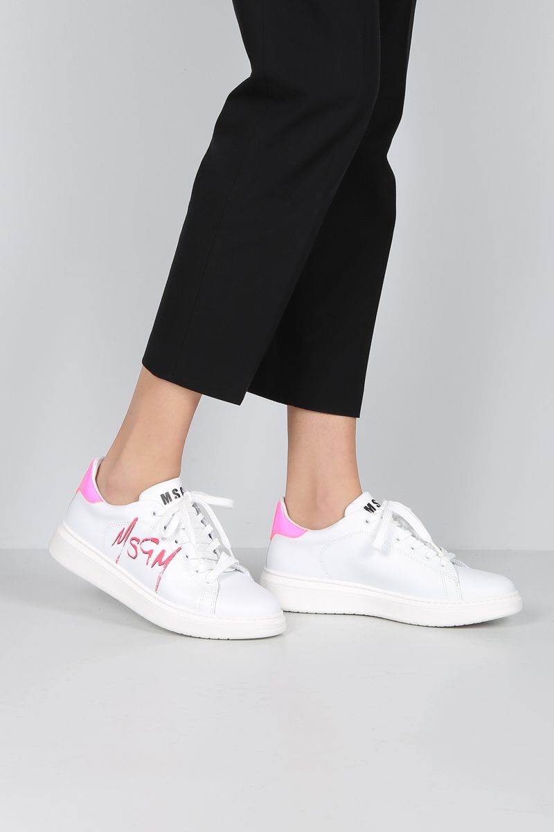 MSGM: smooth leather low-top sneakers_2