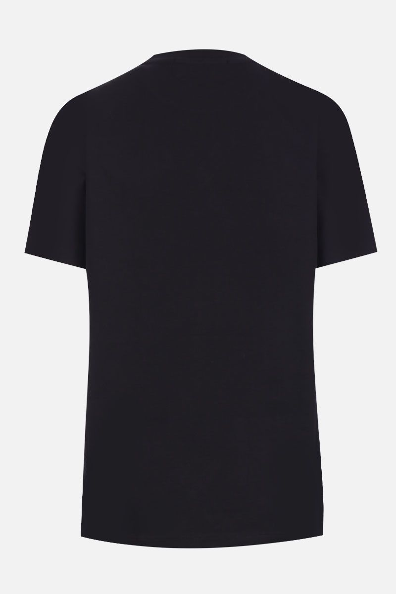 MSGM: box logo print cotton t-shirt Color Black_2