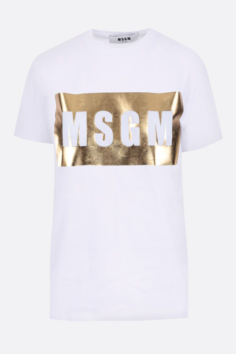 MSGM: t-shirt in cotone stampa box logo MSGM_1