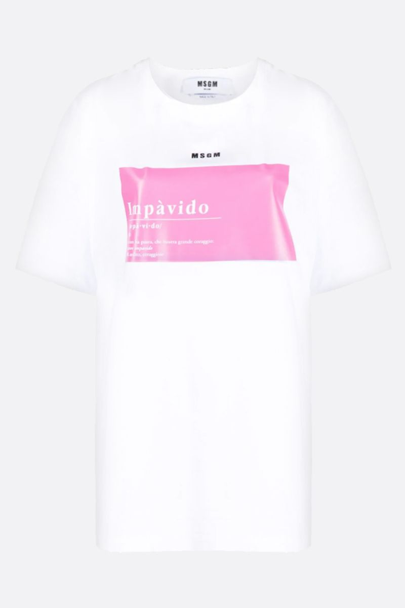 MSGM: Impàvido Zanichelli cotton oversize t-shirt Color White_1