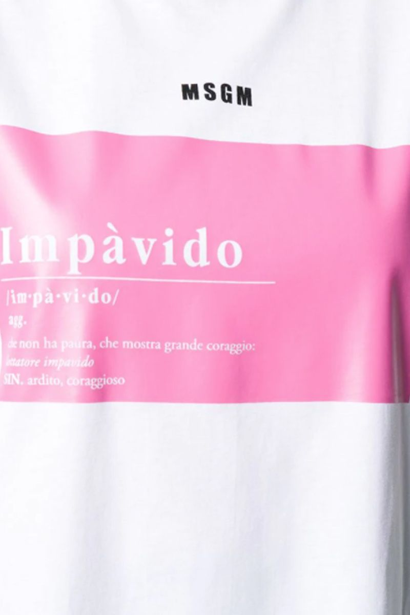 MSGM: Impàvido Zanichelli cotton oversize t-shirt Color White_2