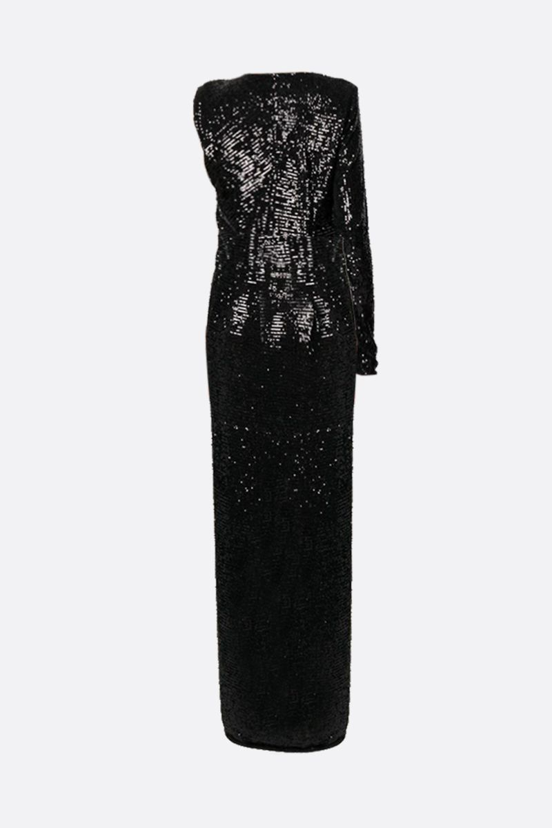 NERVI: Kendall sequinned one-shoulder dress Color Black_2
