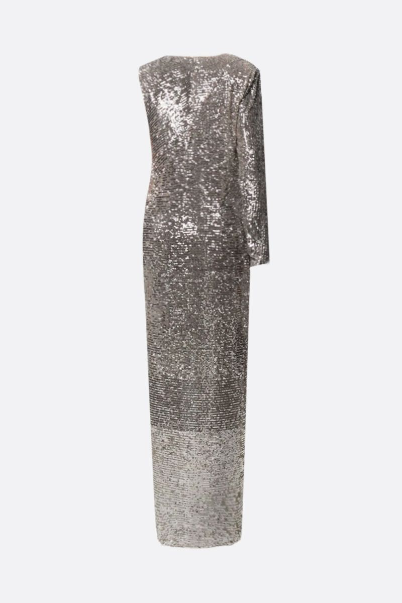 NERVI: Kendall sequinned one-shoulder dress Color Neutral_2