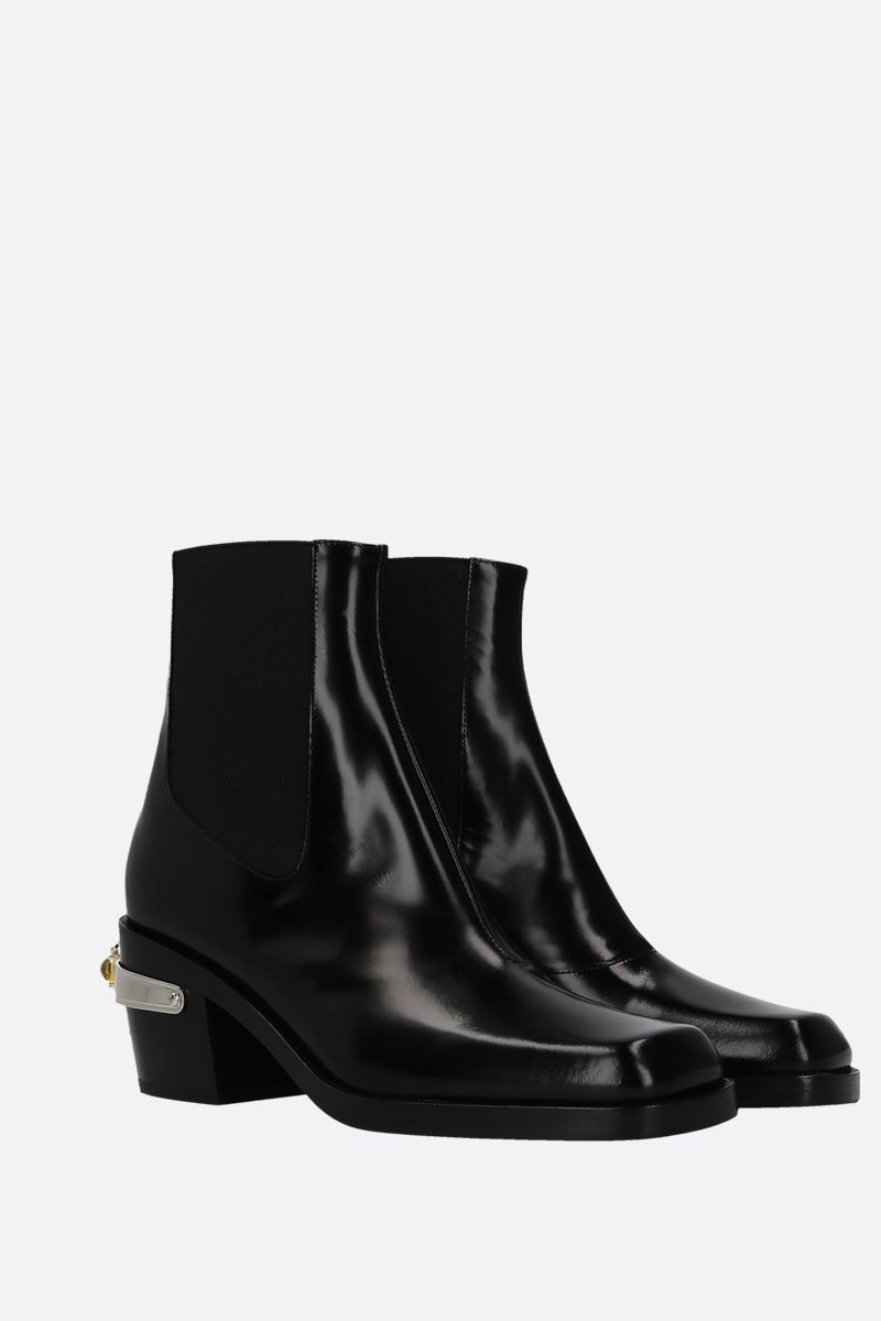 NODALETO: Bulla western boots in smooth leather Color Black_3