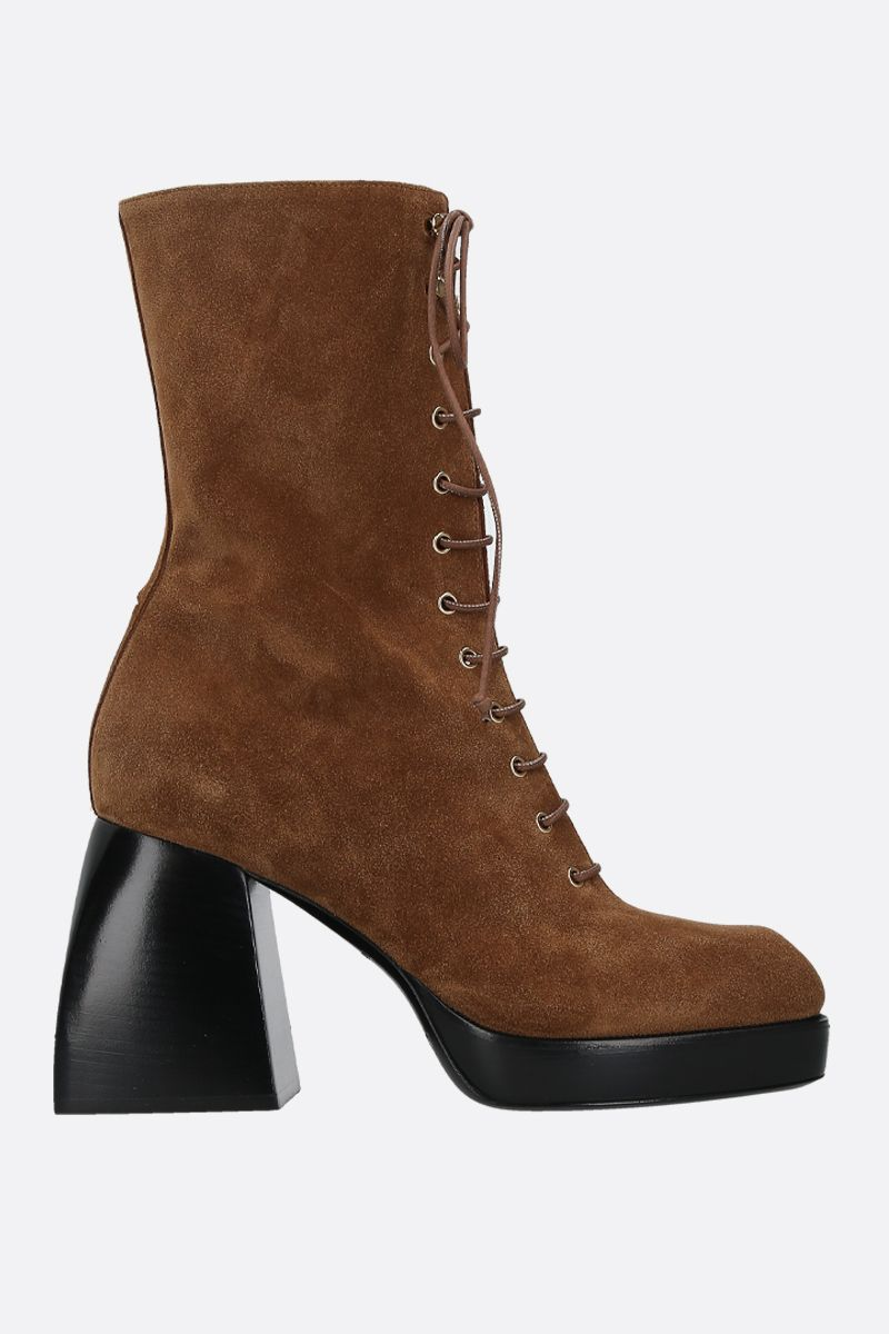 NODALETO: Bulla suede lace-up boots_1