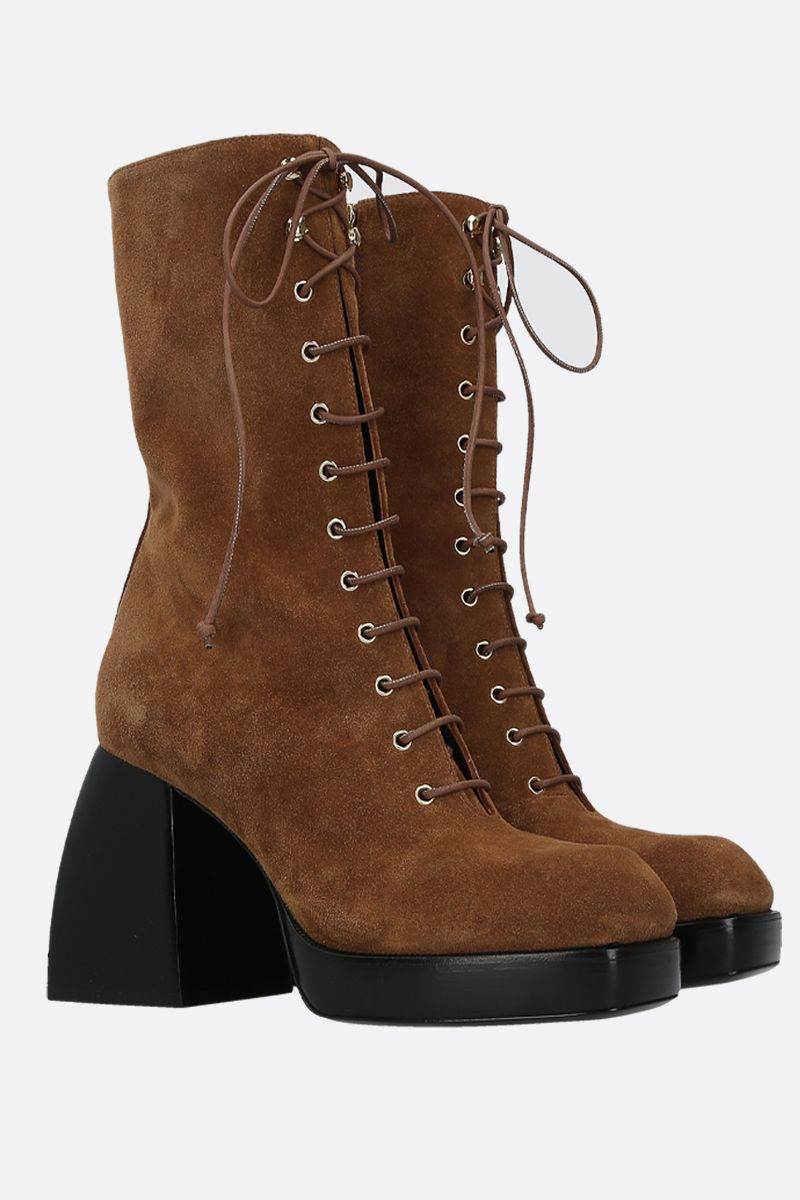 NODALETO: Bulla suede lace-up boots_2