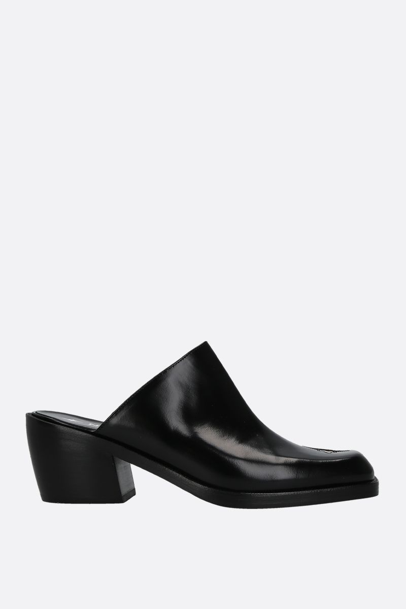 NODALETO: Star Bulla mules in smooth leather Color Black_1