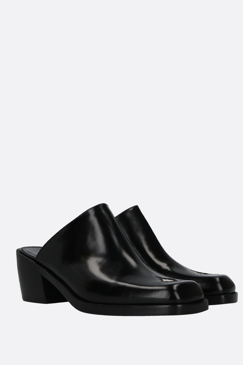 NODALETO: Star Bulla mules in smooth leather Color Black_2