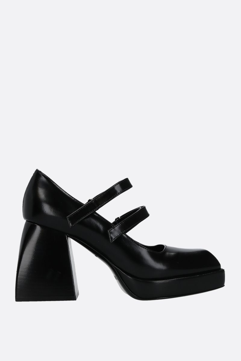 NODALETO: Babies Bulla mary-jane pumps in smooth leather Color Black_1