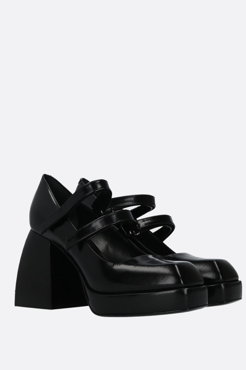 NODALETO: Babies Bulla mary-jane pumps in smooth leather Color Black_2