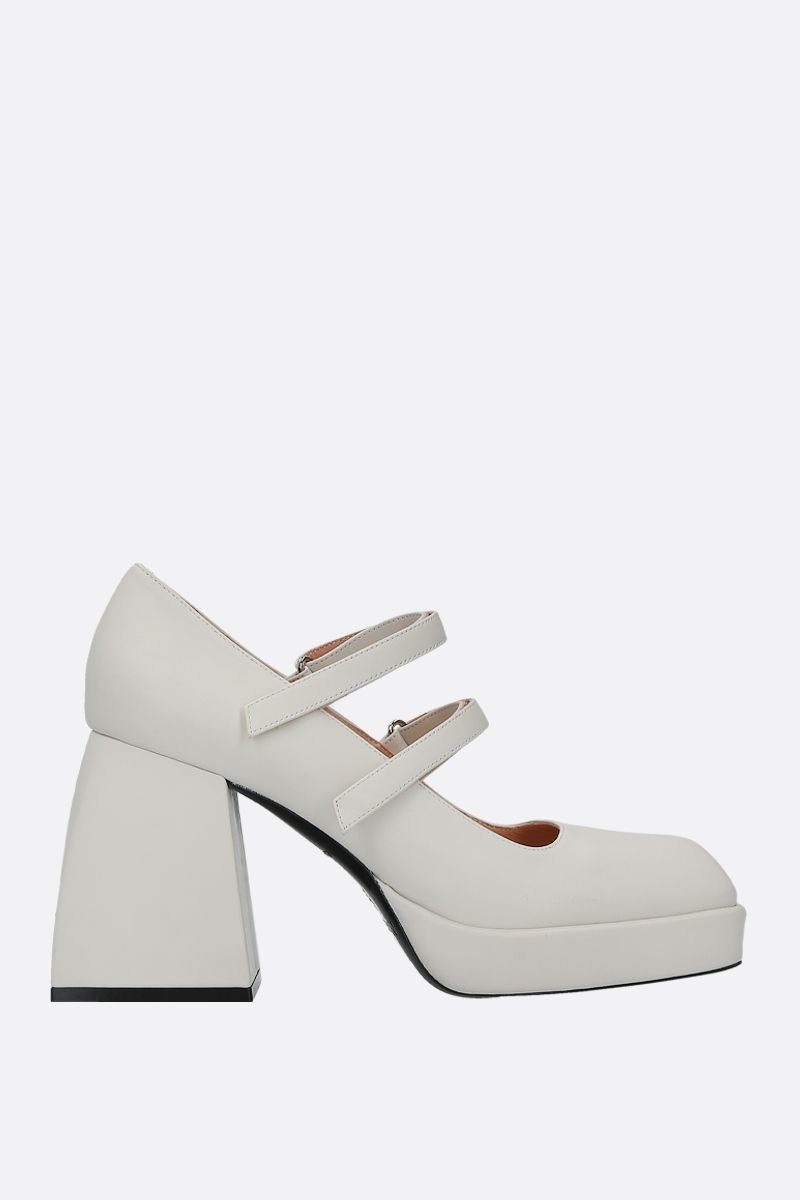 NODALETO: Babies Bulla mary-jane pumps in smooth leather_1
