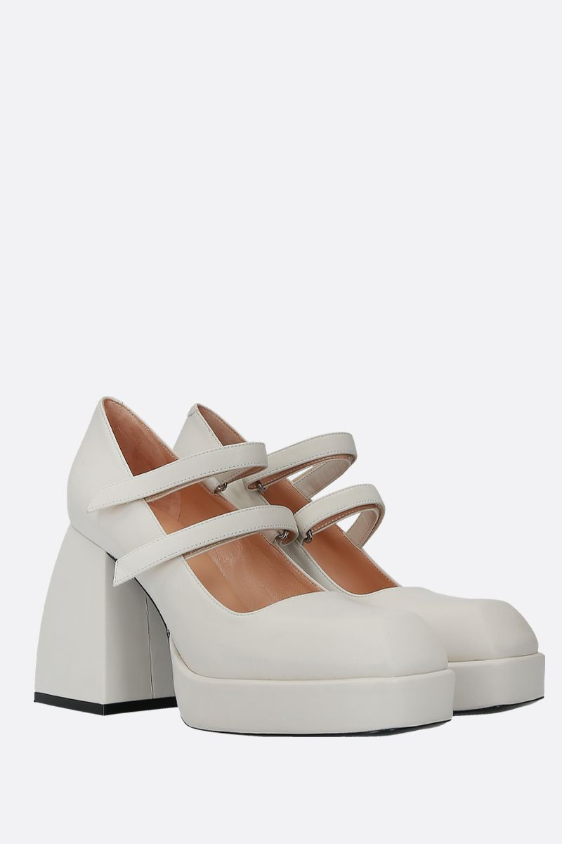 NODALETO: Babies Bulla mary-jane pumps in smooth leather_2