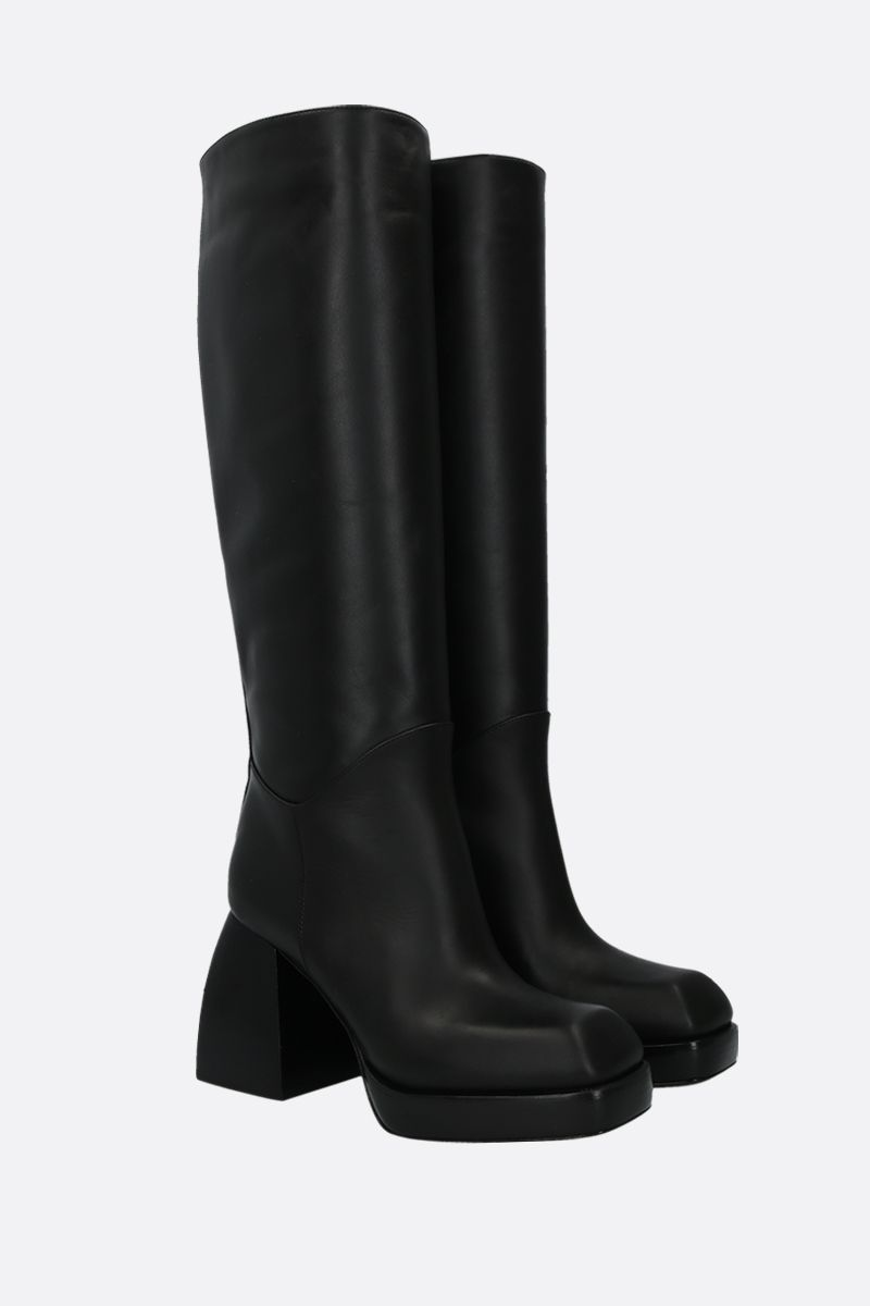 NODALETO: Bulla boots in smooth leather Color Black_2