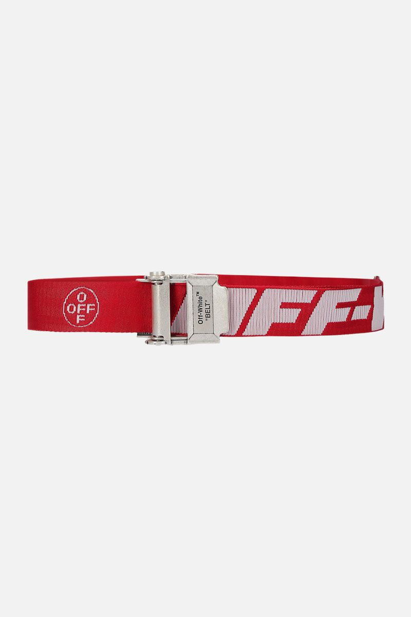 OFF WHITE: Industrial 2.0 belt in logoed fabric Color Multicolor_1