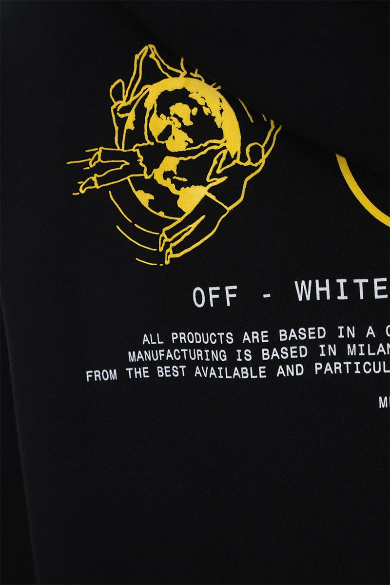 OFF WHITE: Multi Symbols oversized cotton jersey hoodie Color Black_3
