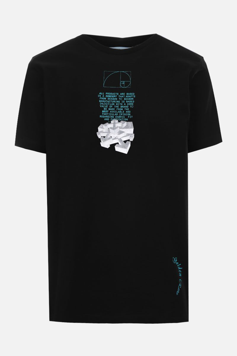 OFF WHITE: Dripping Arrows cotton t-shirt Color Black_1
