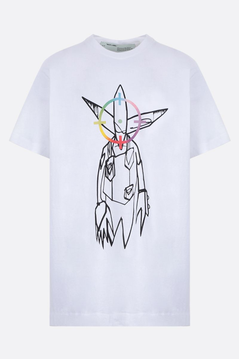 OFF WHITE: Futura Alien oversized cotton jersey t-shirt Color White_1
