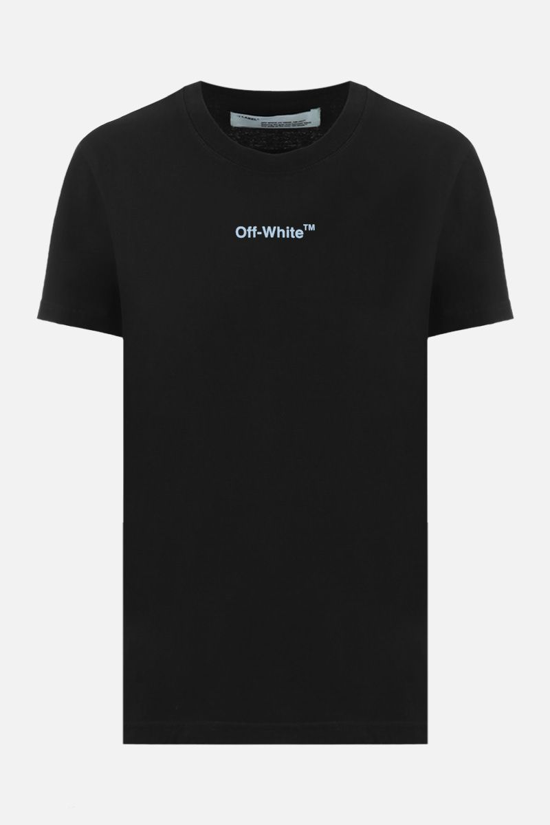 OFF WHITE: Arrow Sketch cotton t-shirt Color Black_1