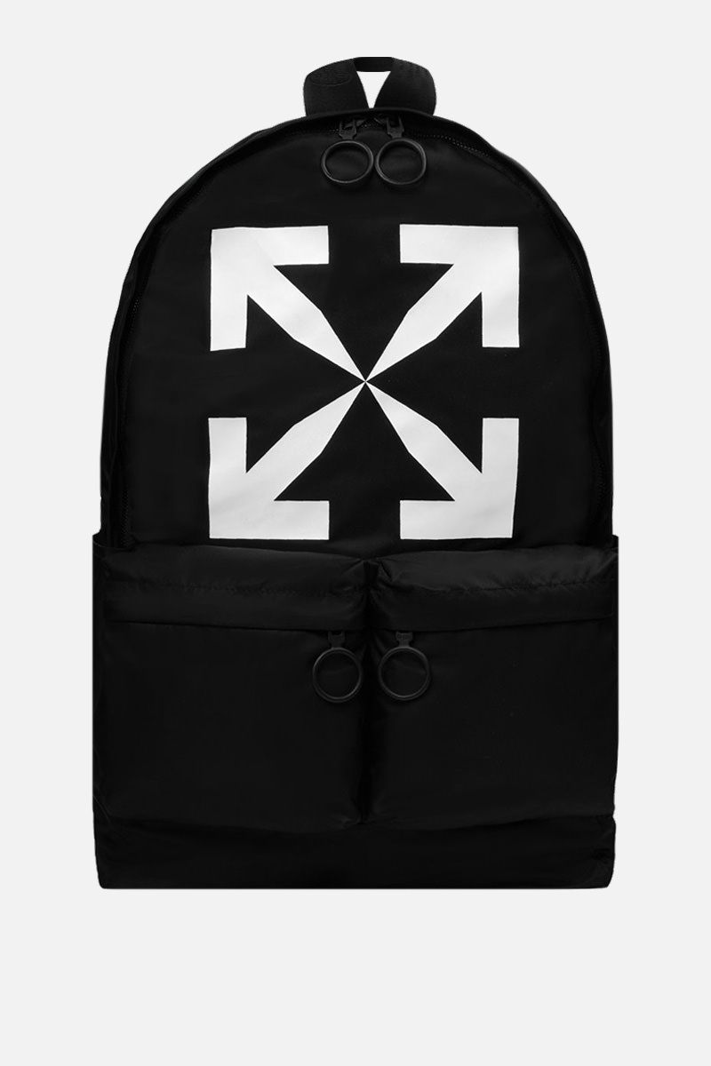 OFF WHITE: Arrow nylon backpack Color Black_1