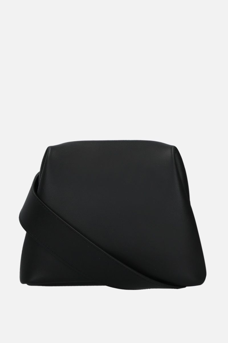 OSOI: Mini Brot crossbody bag in smooth leather Color Black_1