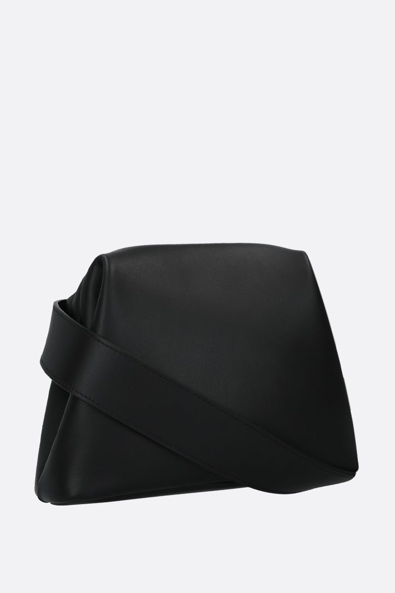 OSOI: Mini Brot crossbody bag in smooth leather Color Black_2