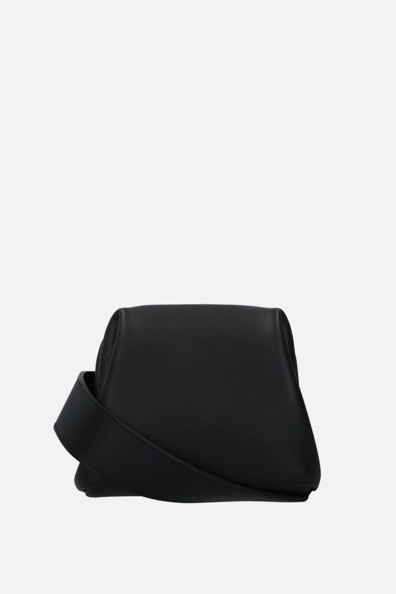 OSOI: Peanut Brot crossbody bag in smooth leather Color Black_1
