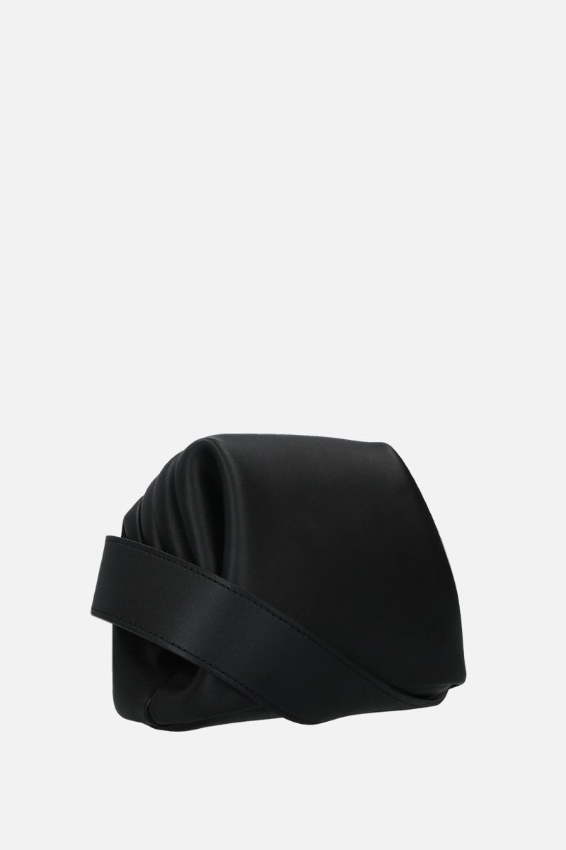 OSOI: Peanut Brot crossbody bag in smooth leather Color Black_2