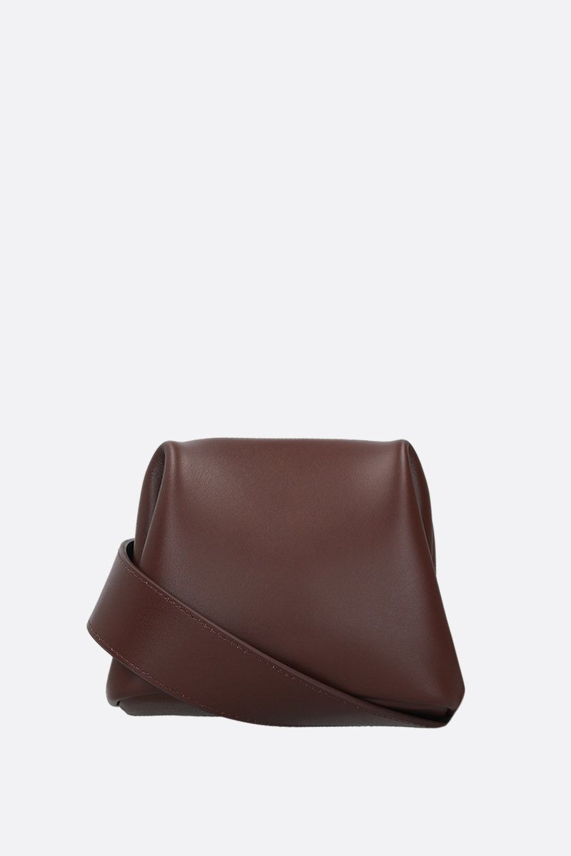 OSOI: Peanut Brot crossbody bag in smooth leather Color Brown_1