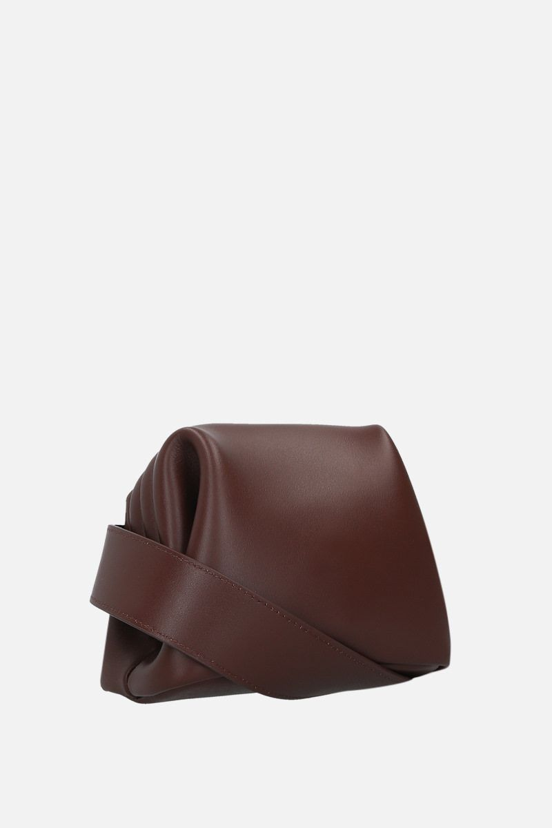 OSOI: Peanut Brot crossbody bag in smooth leather Color Brown_2