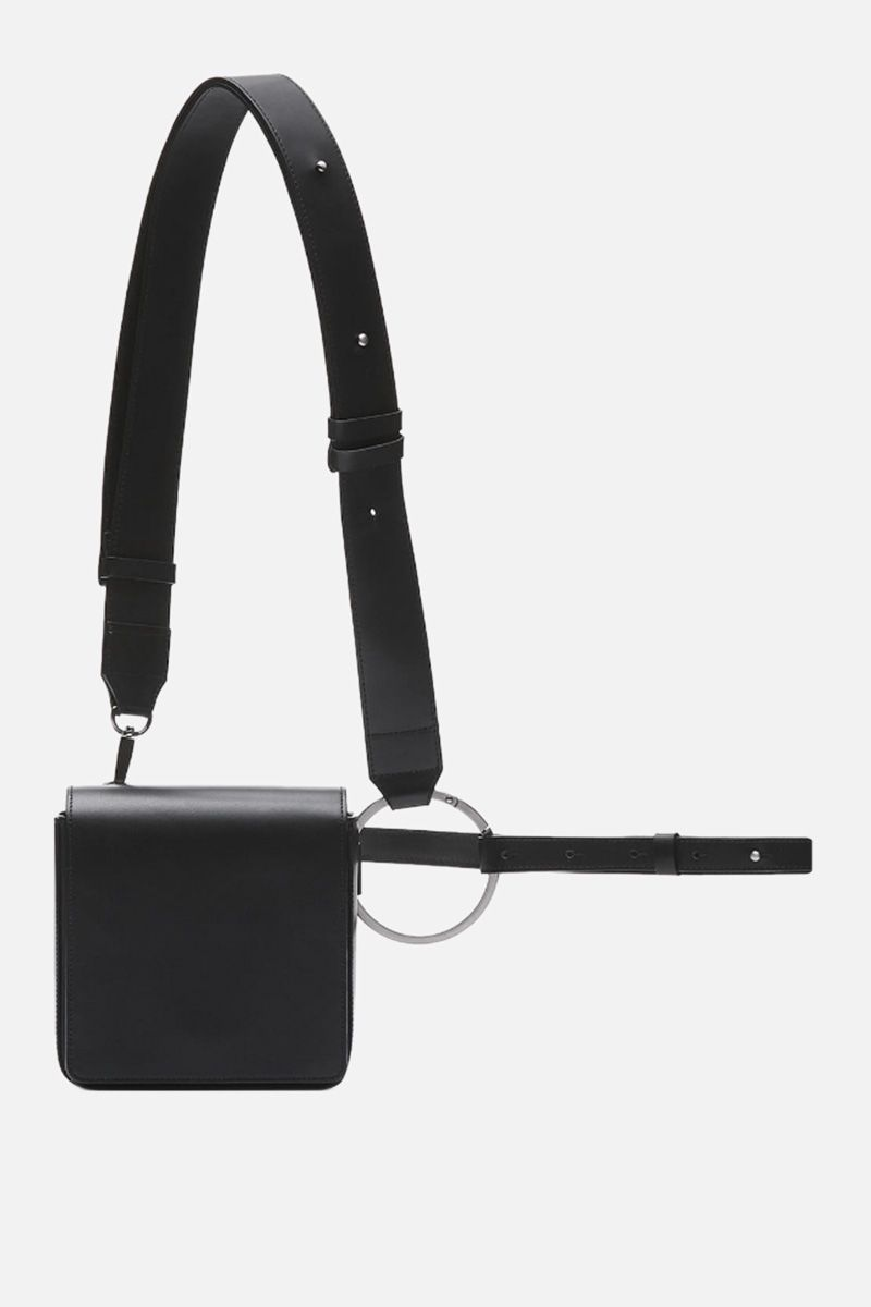 OSOI: Holring crossbody bag in smooth leather Color Black_1