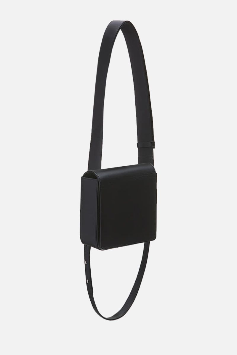 OSOI: Holring crossbody bag in smooth leather Color Black_2