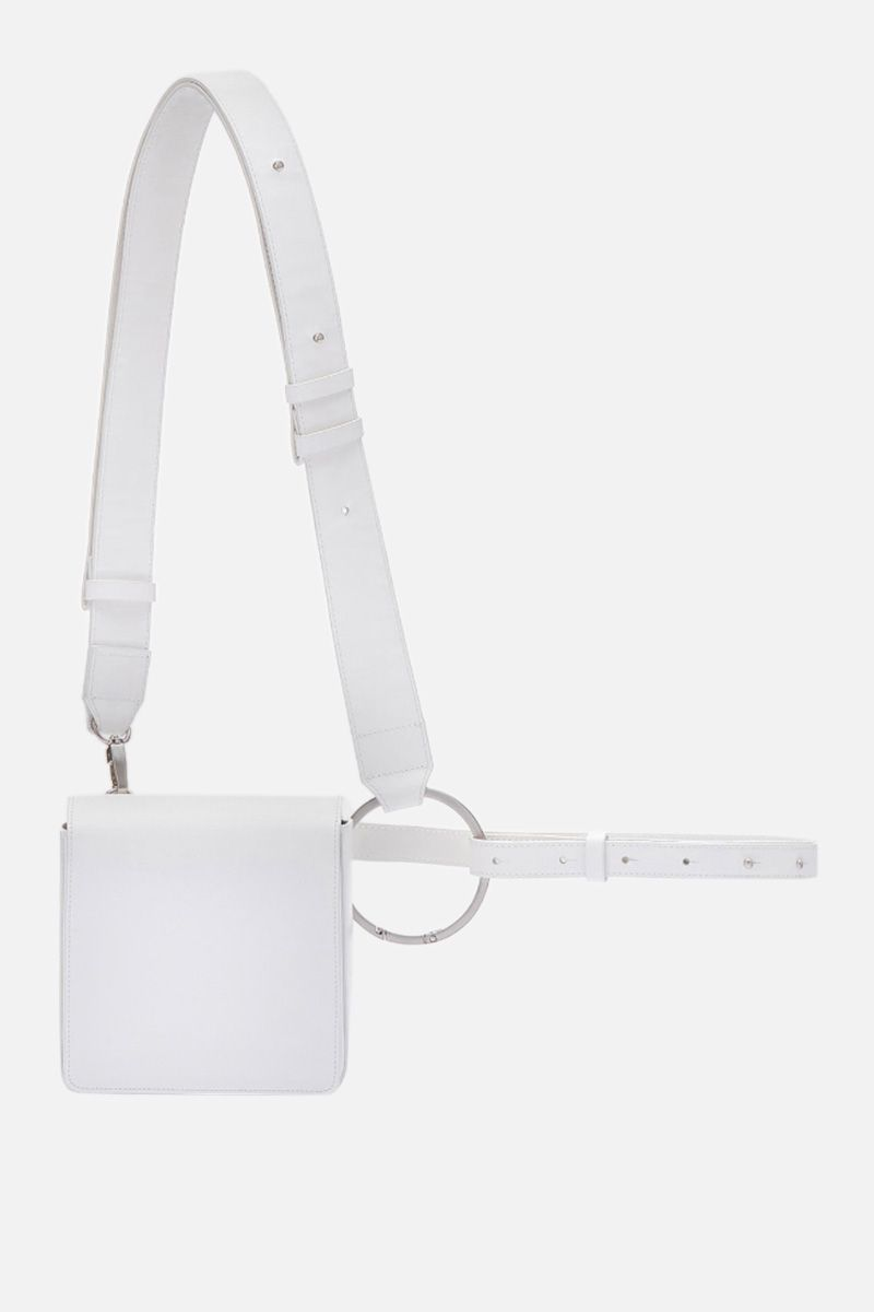 OSOI: Holring crossbody bag in smooth leather Color White_1