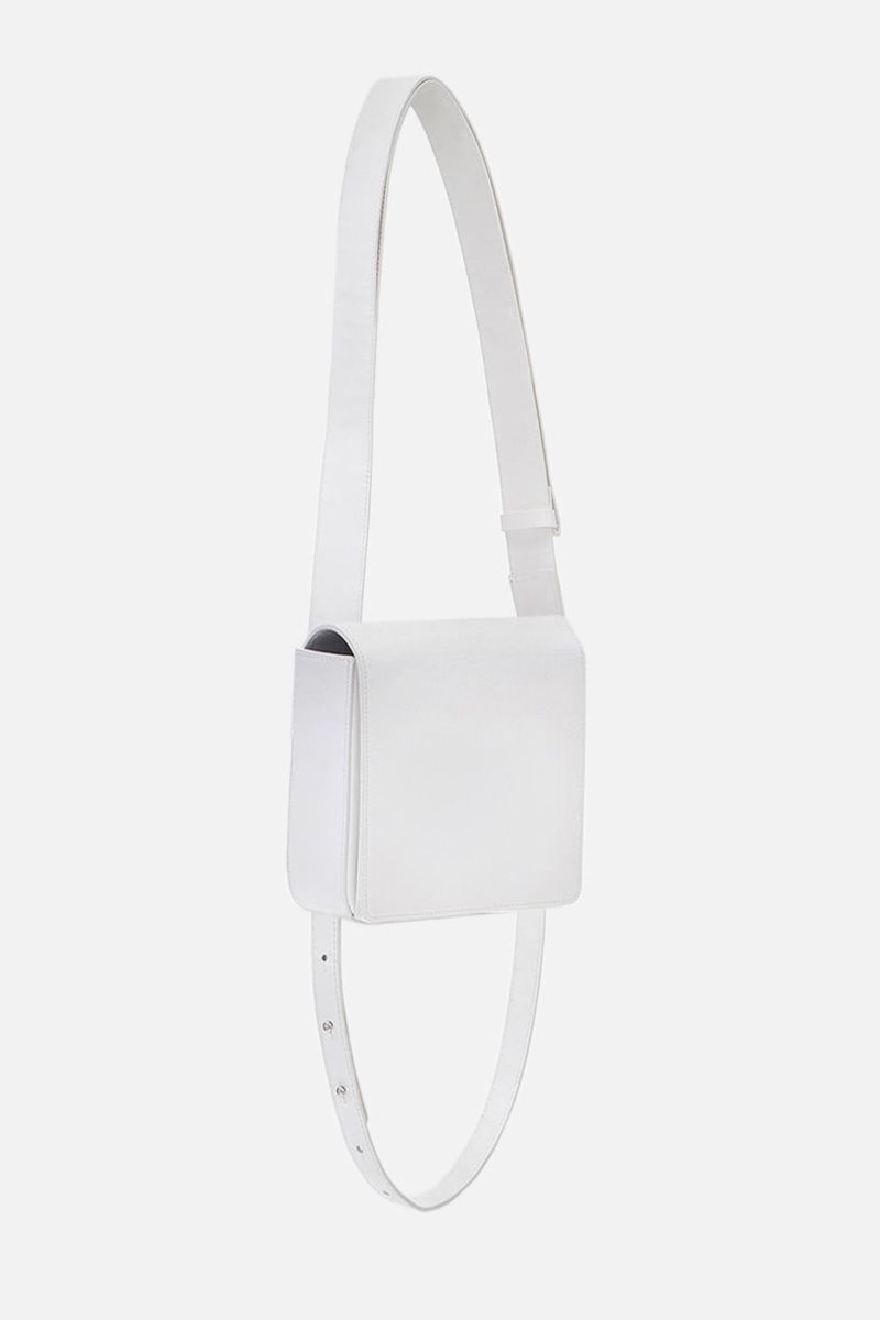 OSOI: Holring crossbody bag in smooth leather Color White_2