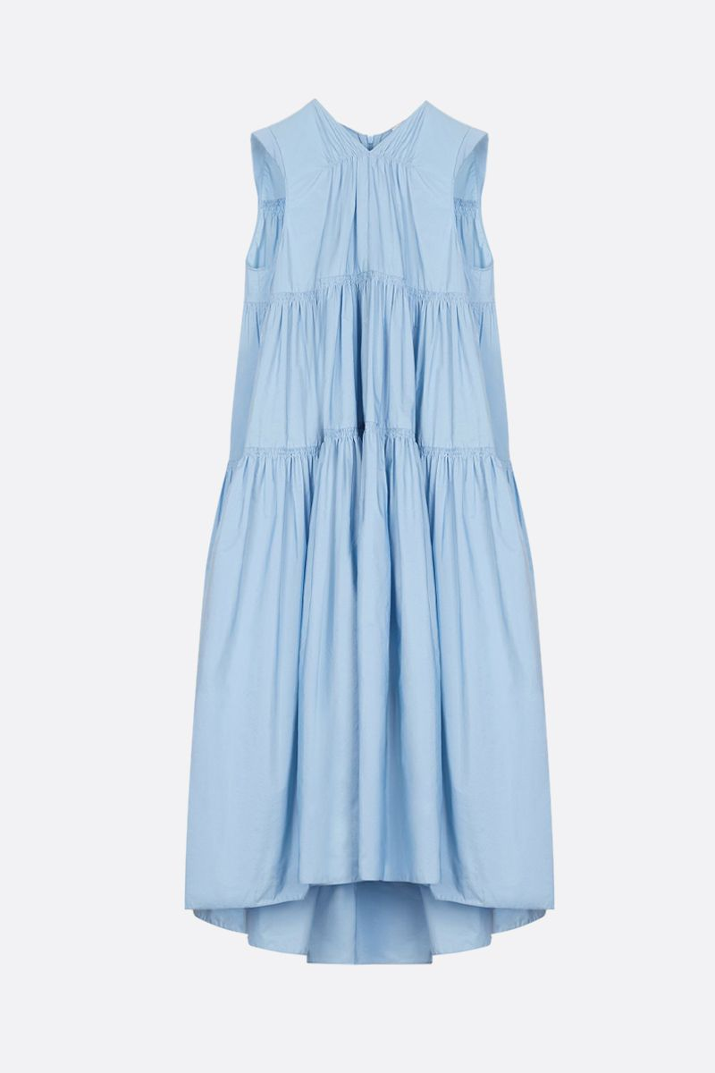 PATOU: faille flounced dress Color Blue_1