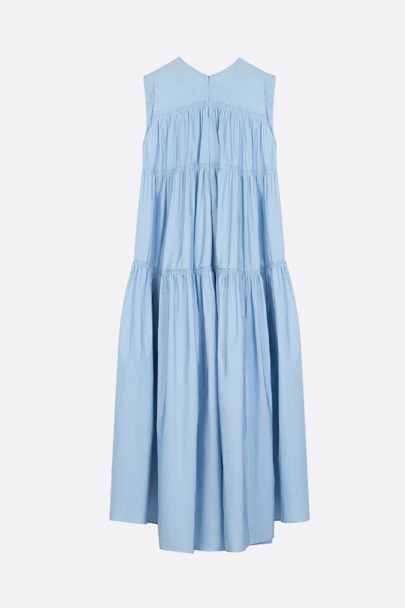 PATOU: faille flounced dress Color Blue_2