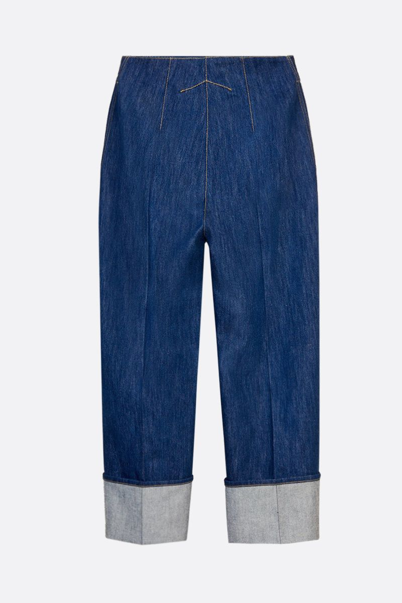PATOU: turn-up detailed straight-leg jeans Color Blue_2