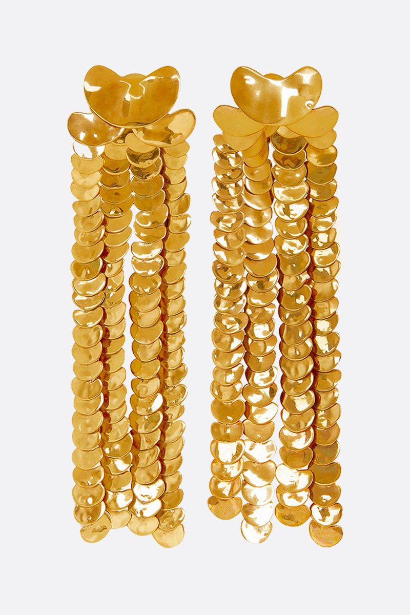 PATOU: brass pendant earrings Color Gold_1