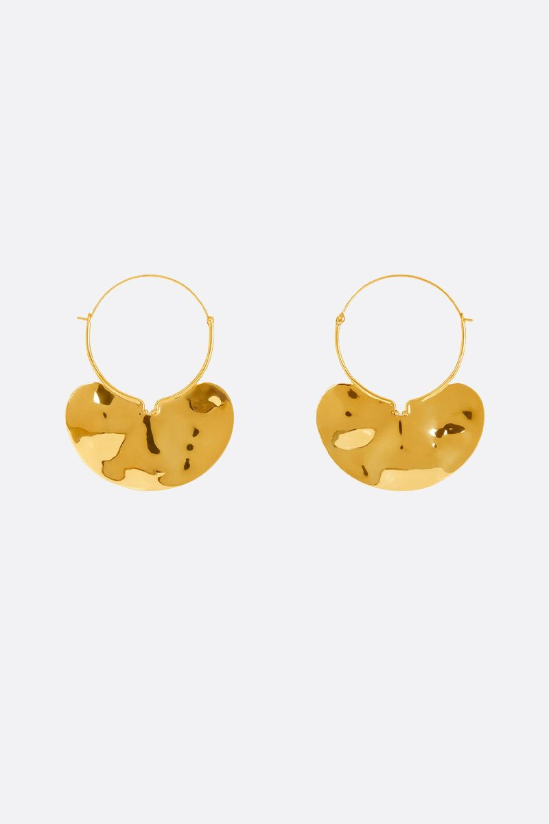 PATOU: brass hoop earrings Color Gold_1