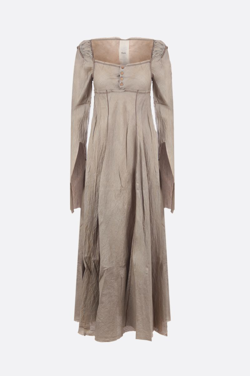 PHAEDO: tussah silk long dress Color Brown_1