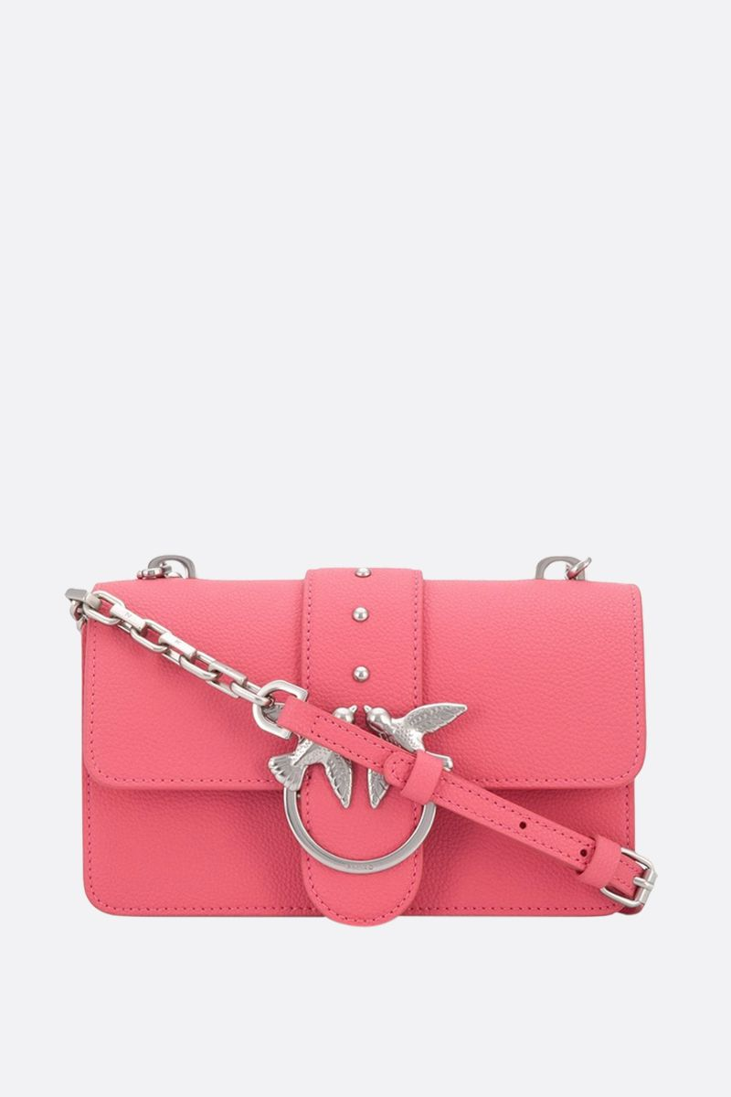 PINKO: mini Love Soft Simply grainy leather crossbody bag_1