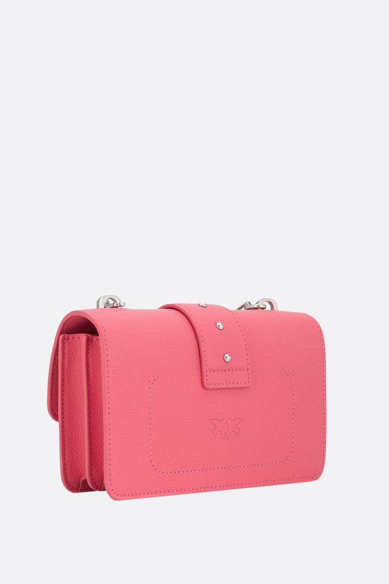 PINKO: borsa a tracolla mini Love Soft Simply in pelle martellata_2