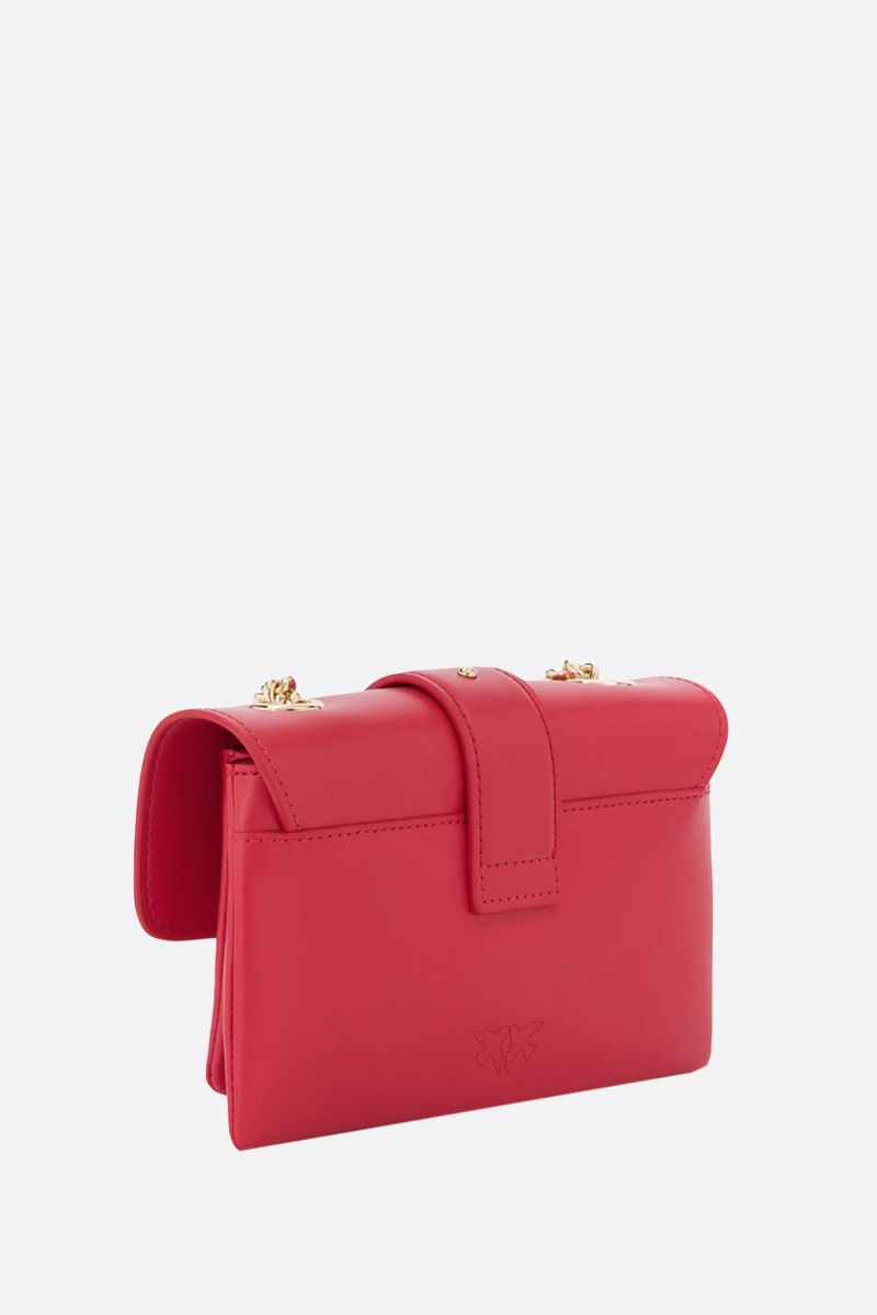 PINKO: baby Love Soft Simply smooth leather shoulder bag Color Red_2