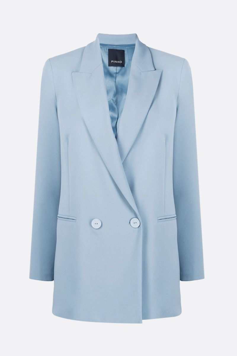 PINKO: Bavarese stretch crepe double-breasted jacket Color Blue_1