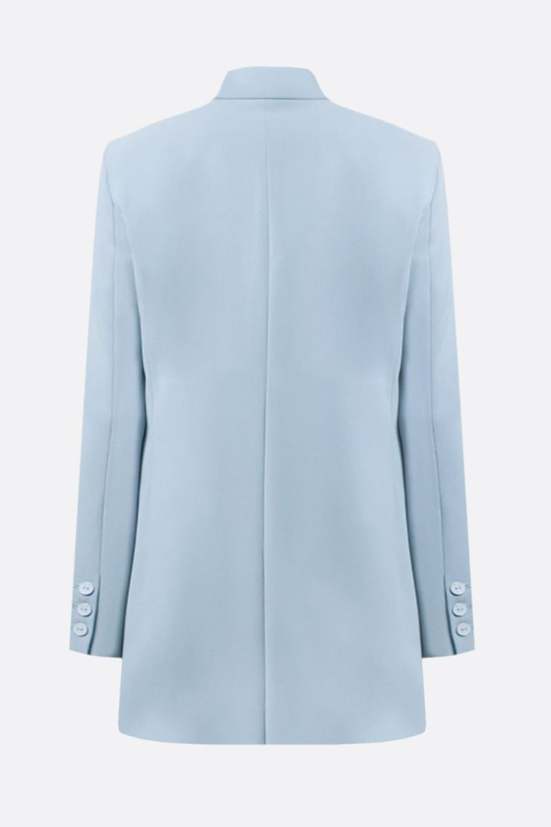 PINKO: Bavarese stretch crepe double-breasted jacket Color Blue_2