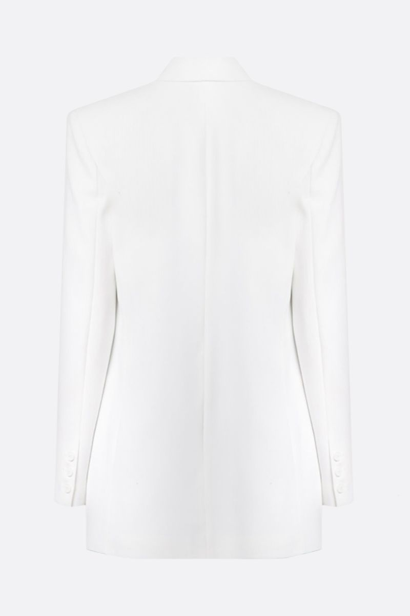 PINKO: Bavarese stretch crepe double-breasted jacket Color White_2