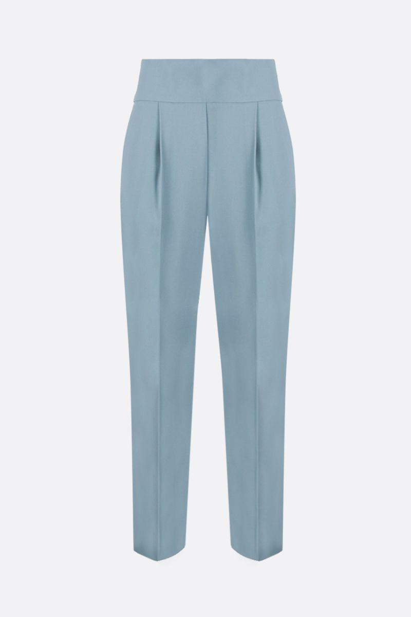 PINKO: pantalone cropped Natalia in crepe stretch Colore Blu_1