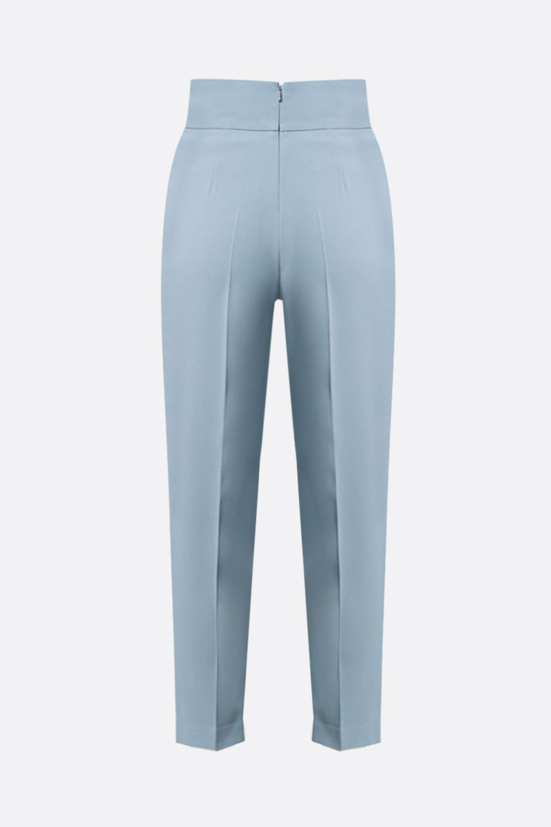 PINKO: pantalone cropped Natalia in crepe stretch Colore Blu_2