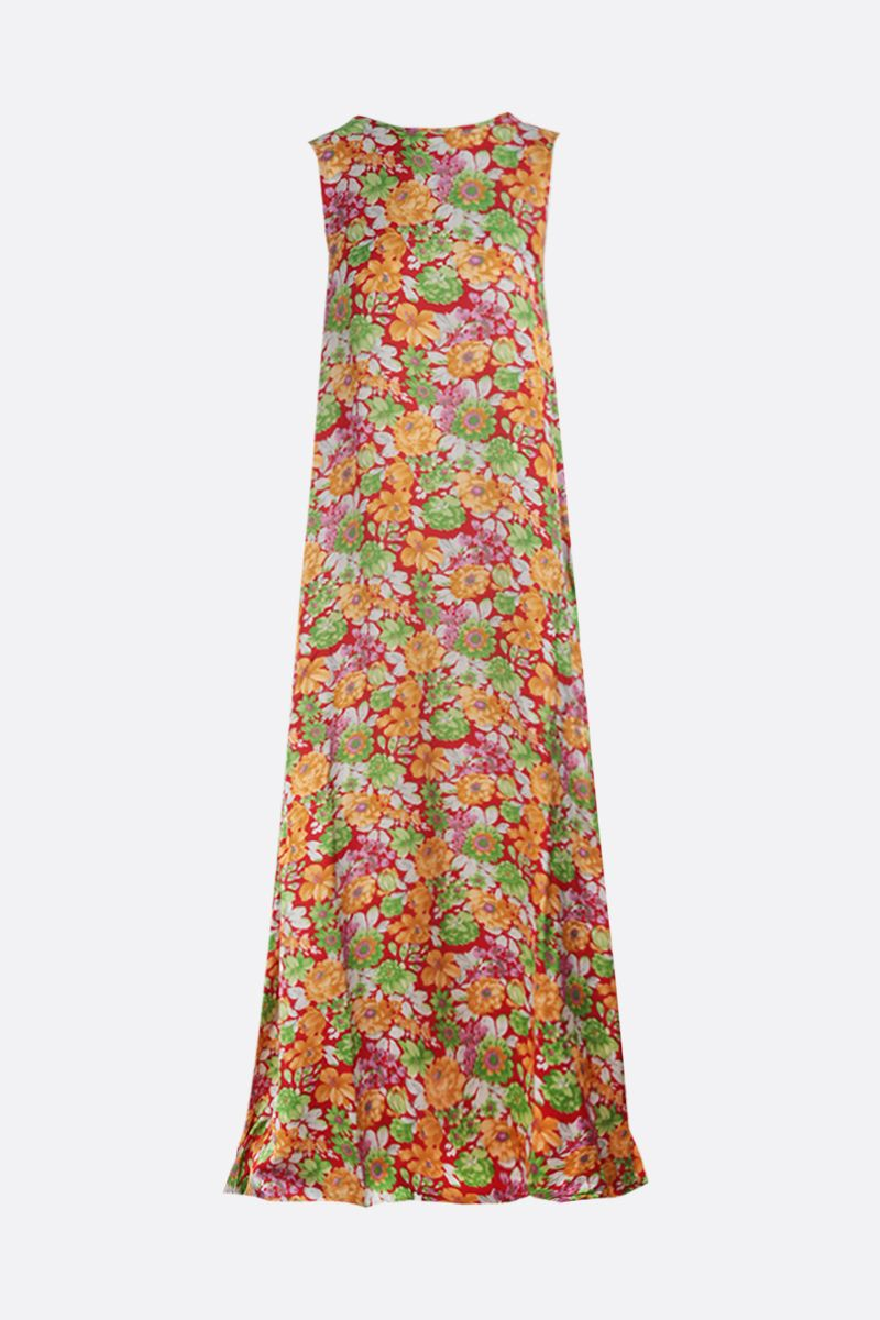 PLAN C: floral print satin sleeveless dress Color Multicolor_1